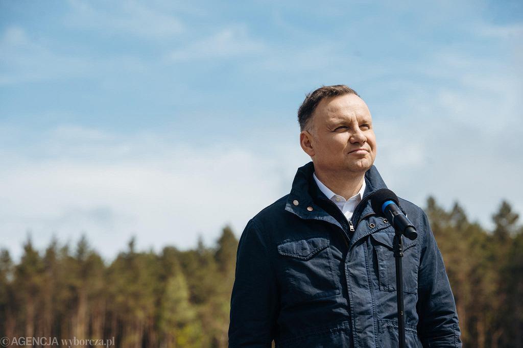 Wybory prezydenckie 2020. Andrzej Duda pod Kozienicami zapowiedział budowę mostu nad Wisłą