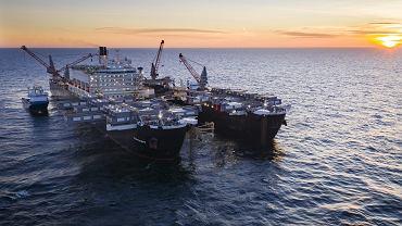 Budowa gazociągu Nord Stream 2 na Bałtyku