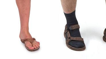 Lepiej w klapkach, niż w sandałach i skarpetkach...