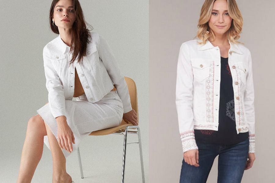 białe kurtki jeansowe