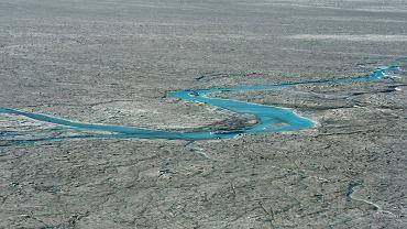 Grenlandia. Lód topnienie. Zdjęcie z 1 sierpnia 2019 r.