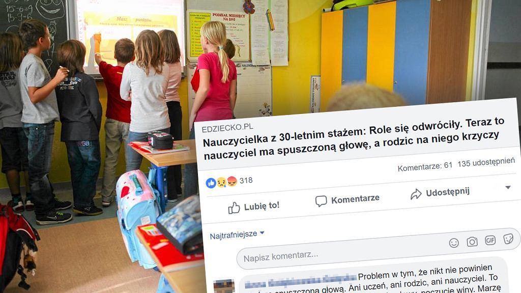 Nauczyciele twierdzą, że coraz częściej spotykają się z roszczeniowymi rodzicami swoich uczniów, którzy zachowują się jak klienci