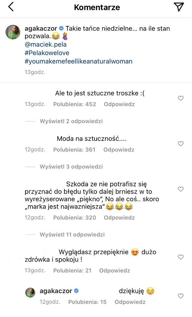 Komentarze do postu Agnieszki Kaczorowskiej (taniec z mężem)