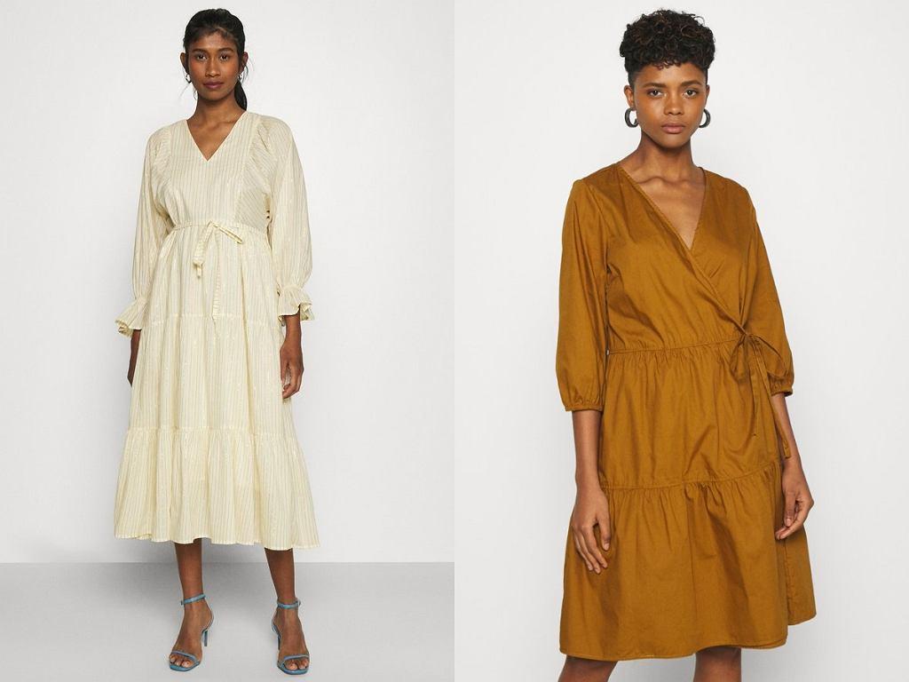 sukienki z paskiem w talii