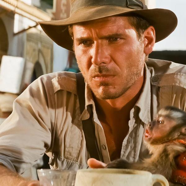 Harrison Ford jako Indiana Jones w filmie 'Poszukiwacze zaginionej arki'