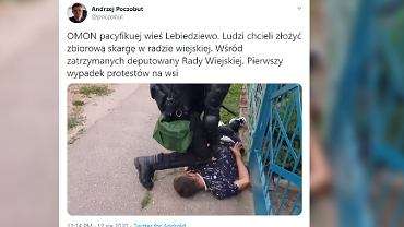 Białoruś. Akcja OMON na wsi.