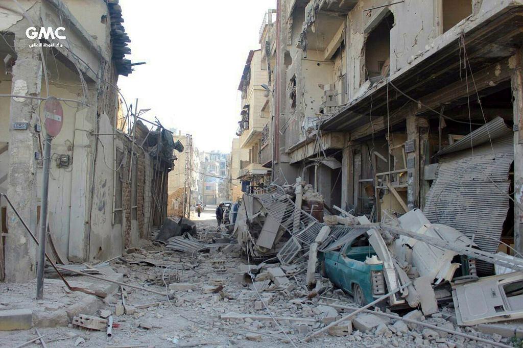 Syria. Skutki bombardowań we Wschodniej Ghucie
