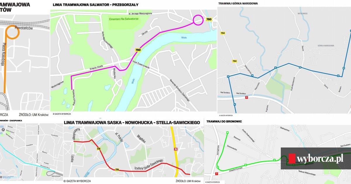 Jakie Linie Tramwajowe Powstana Do 2030 Roku W Krakowie Mapy Wideo