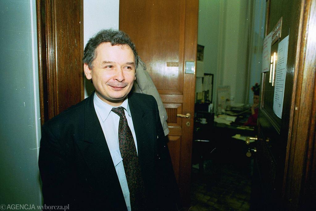 Jarosław Kaczyński w 1992 roku.