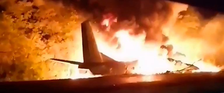 Ukraina. Katastrofa wojskowego samolotu An-26. Są zabici i ranni