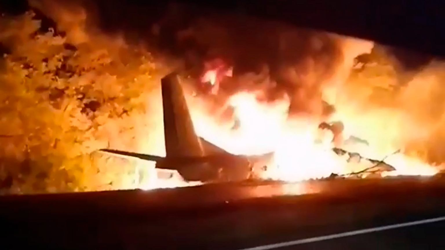Ukraina. Katastrofa wojskowego samolotu An-26. S
