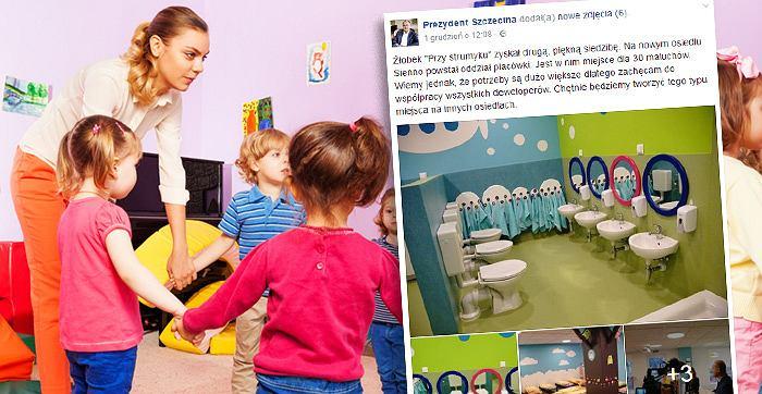 Toaleta w szczecińskim żłobku wzbudziła sporo kontrowersji...