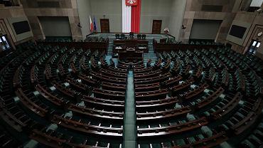 Sejm. Sala plenarna (zdjęcie ilustracyjne)