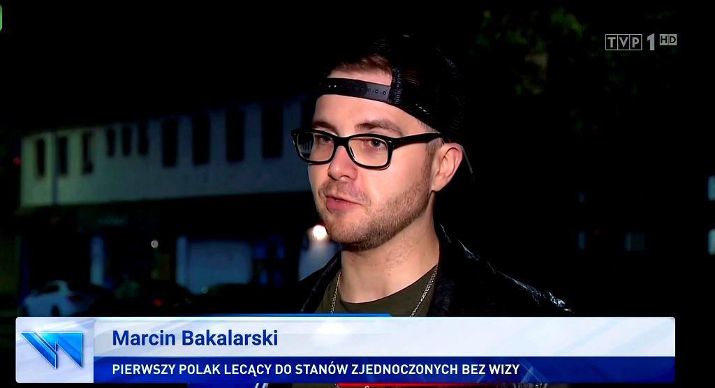 Reportaż 'Wiadomości' TVP : Pierwszy Polak bez wizy już w USA