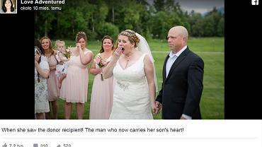 Syn zmarł przed jej ślubem, ale jego część była na ceremonii