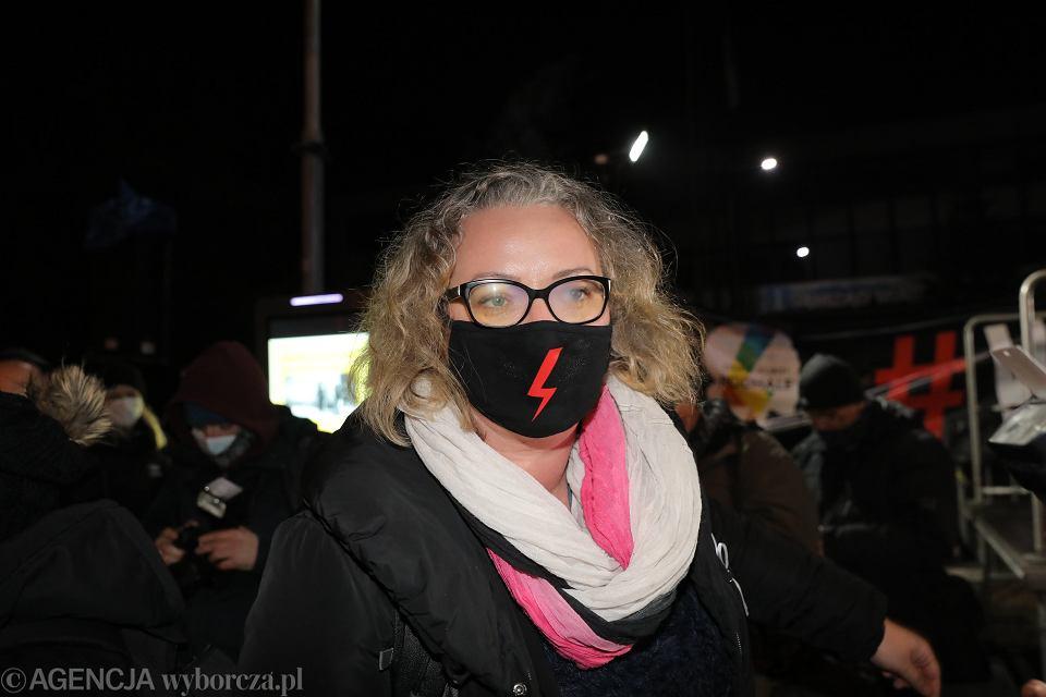 6.11.2020 r., Marta Lempart na proteście w Zakopanem