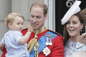 Książę Jerzy, książę William, księżna Kate