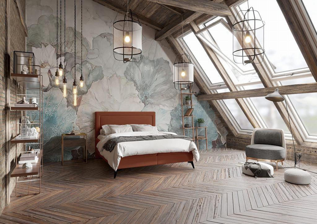 Łóżko kontynentalne z pojemnikiem Joy.