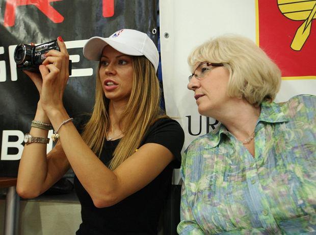 Anna Kociuga z mamą Marcina Gortata