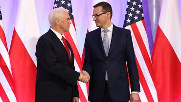 Mateusz Morawiecki i Mike Pence