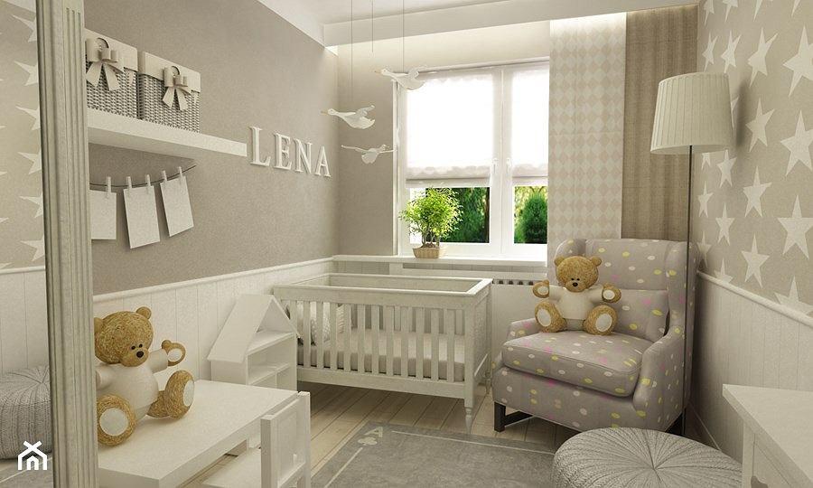 Pokój małej dziewczynki w skandynawskim stylu