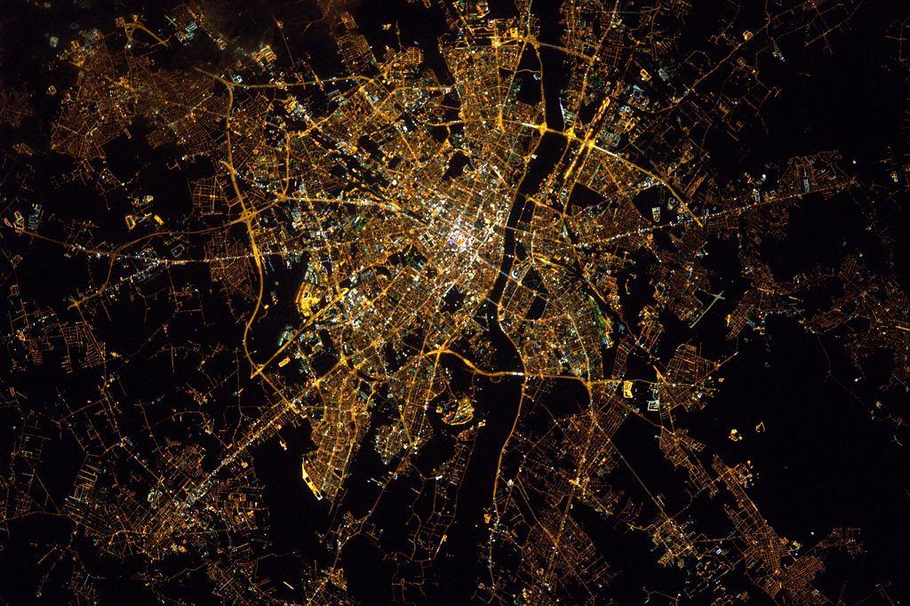 Warszawa z kosmosu