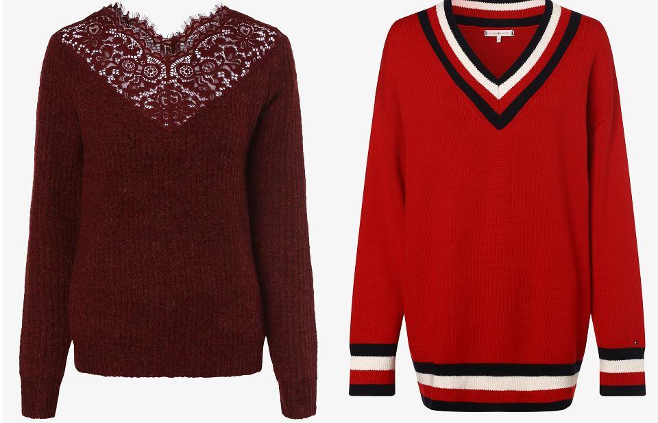 Swetry w odcieniach czerwienie