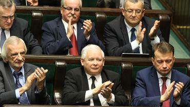Ławki PiS w Sejmie