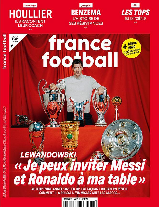 Robert Lewandowski na okładce 'France Football'