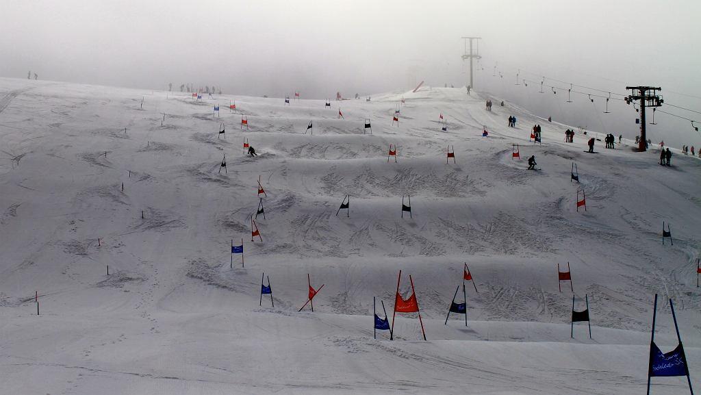 Trening drużyn z całej Europy na lodowcu Pisaillas.