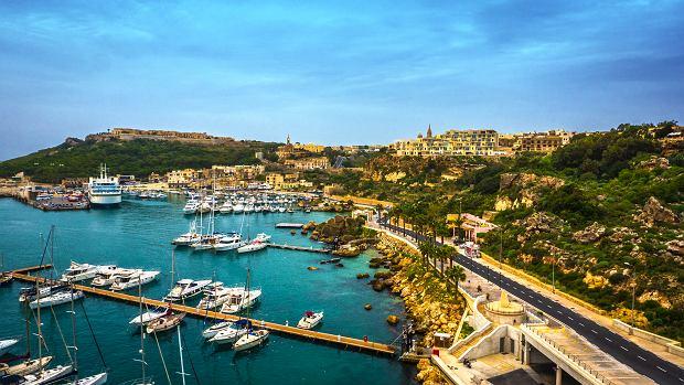 Port Mgarr na wyspie Gozo