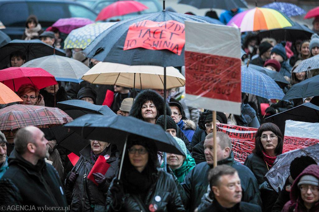 Strajk Kobiet w Lublinie w marcu 2017 r.
