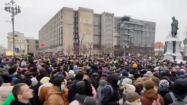 Rosja. Protest w obronie Aleksieja Nawalnego