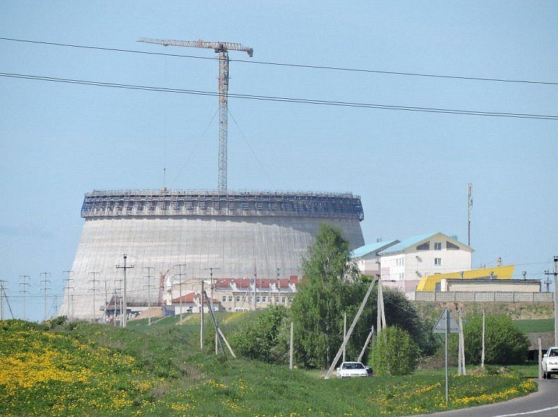 Budowa białoruskiej elektrowni jądrowej.