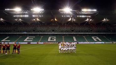 Mecz Legia - Apollon przy pustych trybunach