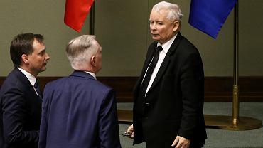 Zbigniew Ziobro, Jarosław Gowin oraz Jarosław Kaczyński