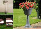 Lampy, donice i siedziska do ogrodu. Modne modele w świetnych cenach
