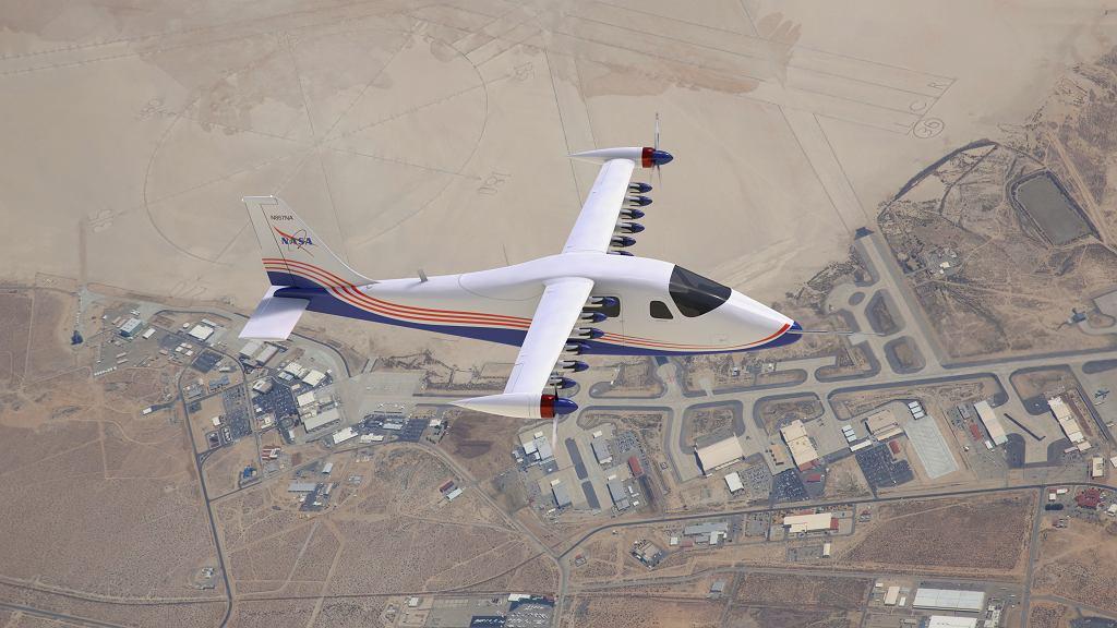 Wizualizacja X-57 w modyfikacji nr 4