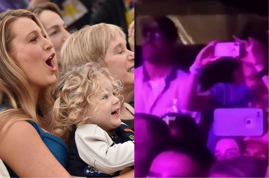 Blake Lively z córką James / Blake Lively i Ryan Reynolds na koncercie Taylor Swift