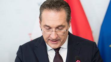 Zdymisjonowany wicekanclerz Austrii Heinz-Christian Strache, Wiedeń, 18 maja 2019.