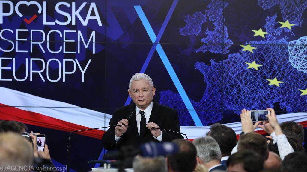 Wyniki wyborów do europarlamentu. Jarosław Kaczyński, prezes PiS
