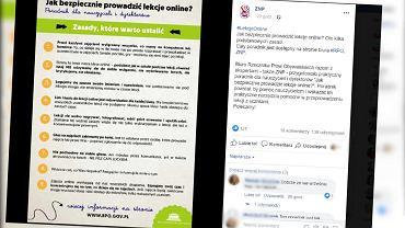 Poradnik dla nauczycieli jak prowadzić lekcje online krytykowany przez internautów