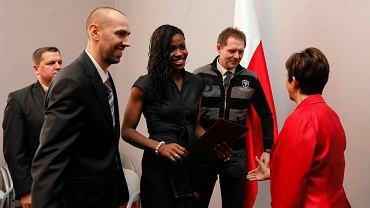 Charity Szczechowiak podczas uroczystości nadania polskiego obywatelstwa