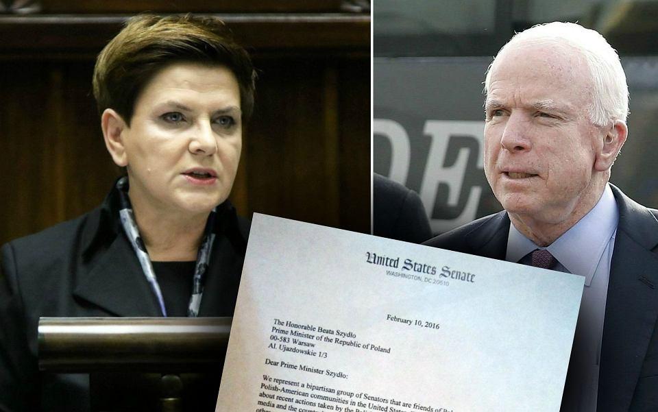 Trzech wpływowych senatorów USA napisało list do Szydło: