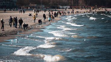Bałtyk, plaża w Sopocie.
