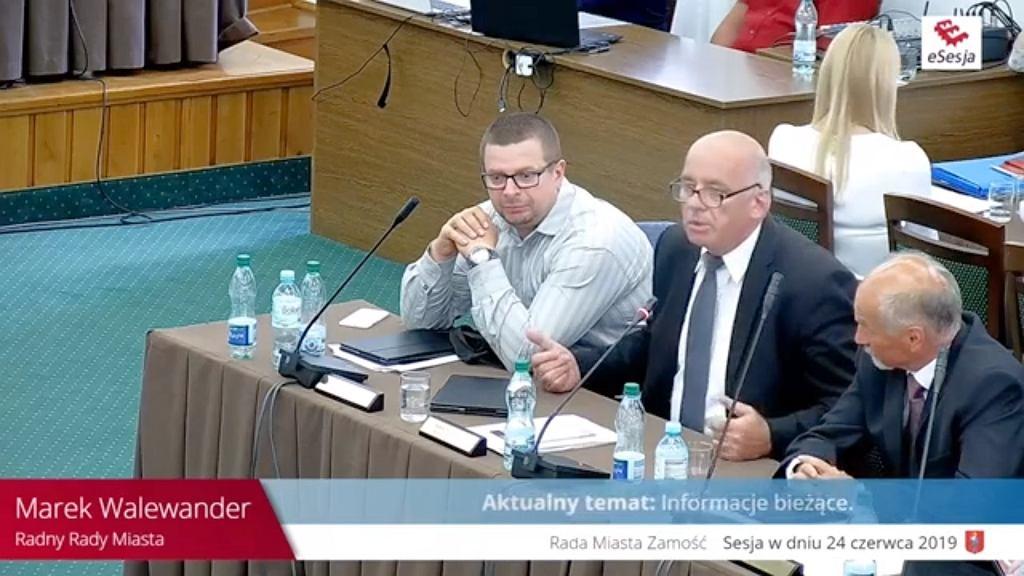 Sesja rady miasta w Zamościu