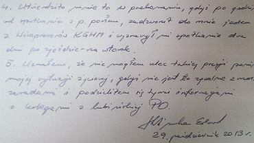 Oświadczenie Edwarda Klimki