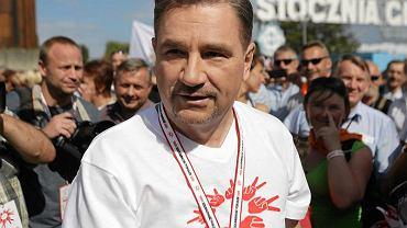 """Przewodniczący """"Solidarności"""" Piotr Duda podczas obchodów rocznicy Sierpnia '80"""