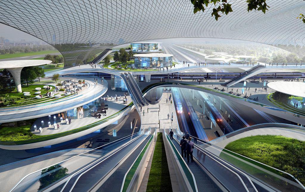Na zlecenie spółki projektującej Centralny Port Komunikacyjny powstał wstępny projekt lotniska autorstwa pracowni Zaha Hadid Architects