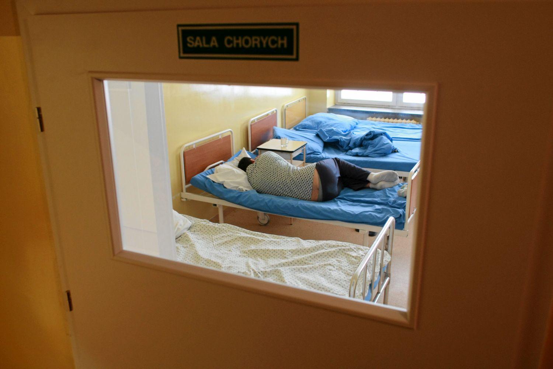11.02.2010 LUBLIN , SZPITAL NEUROPSYCHIATRYCZNY IM. KACZYNSKIEGO PRZY UL. ABRAMOWICKIEJ .  FOT. RAFAL MICHALOWSKI / AGENCJA GAZETA   PLYTA NR 244
